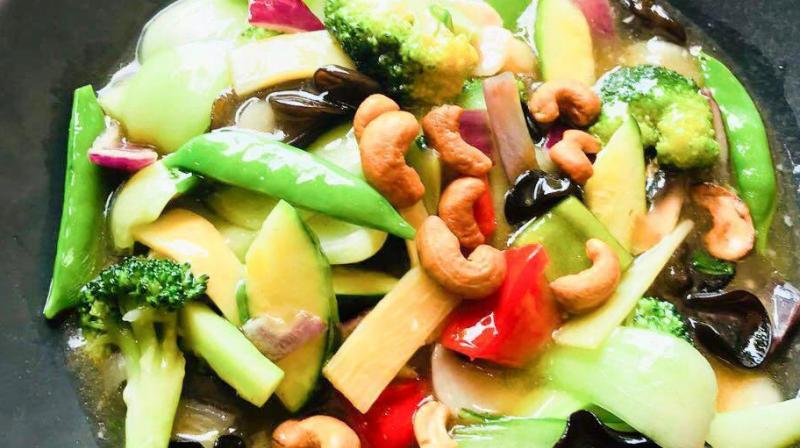 Stir fried greens with cashews and bamboo shoots. (Photo: File)