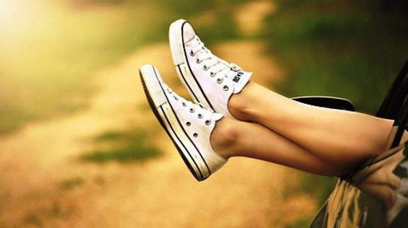 Though the sneakers can be styled with everything starting from track pants to camo cargos, they look best with summer dresses. (Photo: Representational/Pixabay)