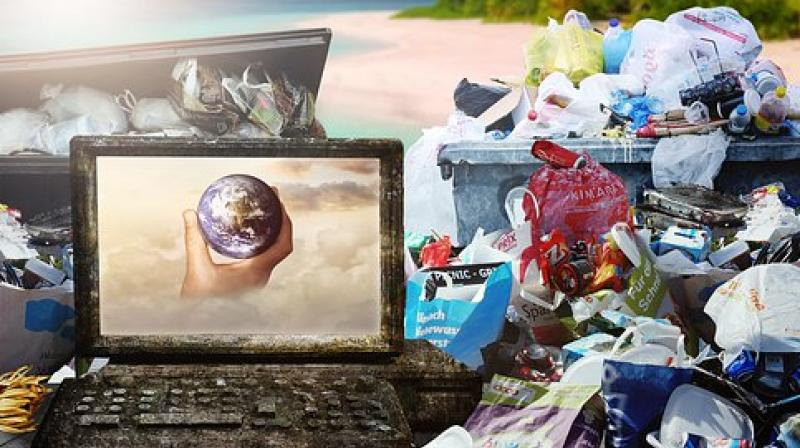 The US in 2018 shipped about 68,000 containers with plastic waste to some developing countries, which mishandle about 70 per cent of their own plastic waste. (Photo: Representational/Pixabay)