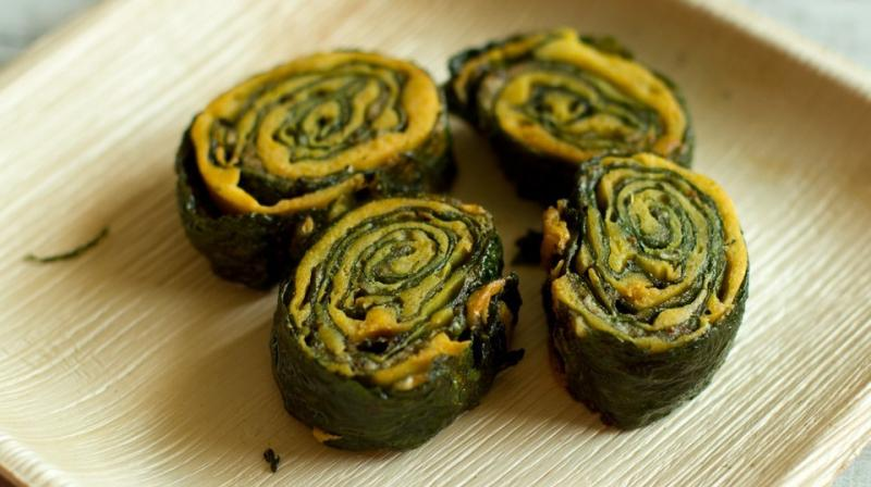Monsoon special: Crispy fried colocasia leaves rolls