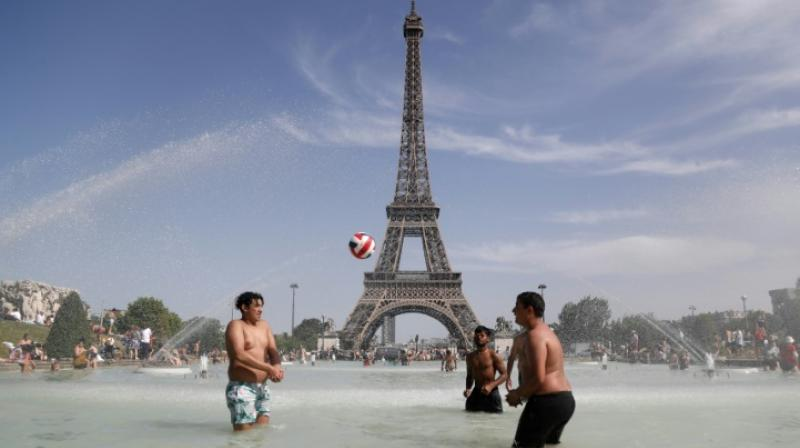 The heatwave last week smashed national records for the hottest single day as scorching weather spread across Europe from the Sahara. (Photo: AFP)