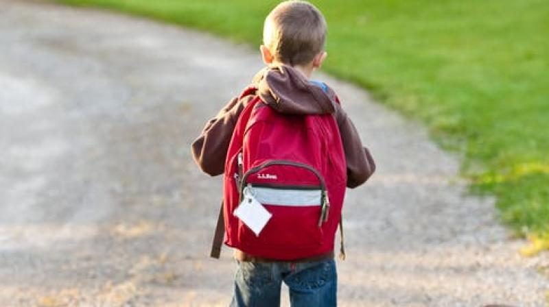 The study corroborates that schoolchildren who use backpacks should avoid carrying loads greater than 10 per cent of their body weight. (Photo: Representational/Pexels)