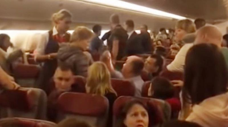 A clip, filmed by one of the passengers, went viral on social media, where she explained the bizarre occurrence. (Photo: Screengrab)