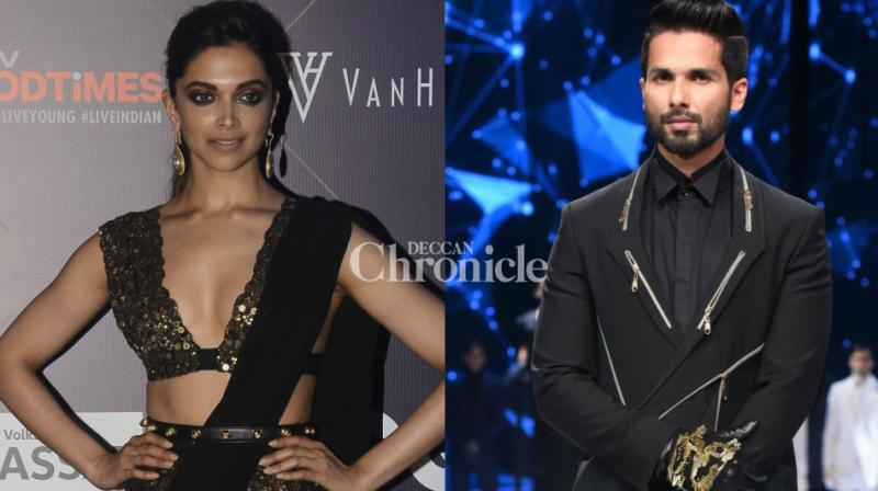 Deepika Padukone was one of the star attractions as she arrived to watch her 'Padmavati' co-star Shahid Kapoor's ramp walk on day two of the GQ Fashion Nights held in Mumbai on Sunday. (Photo: Viral Bhayani)