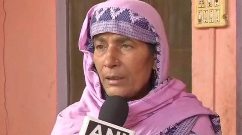 Ratan, mother of Jeetendra- one of the accused in the Bulandshahr violence criticised the police department of ransacking her house and also beating her daughter-in-law. (Photo: ANI)