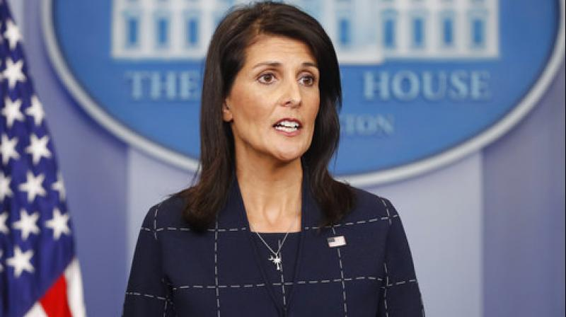 Taking credit for the budget cut America's Indian-origin Ambassador to the UN Nikki Haley said that she negotiated a reduction of over USD 285 million off the 2016-2017 final budget