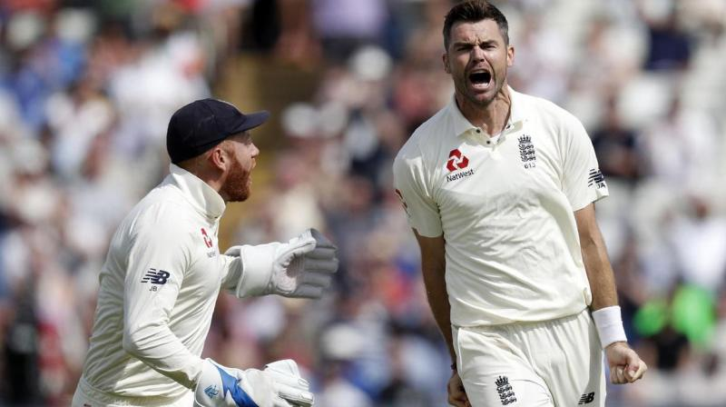 Pacer James Anderson has been ruled out from the remaining Ashes as England Cricket Board (ECB) on Friday announced a 13-member squad for the fourth Test match. (Photo:AFP)