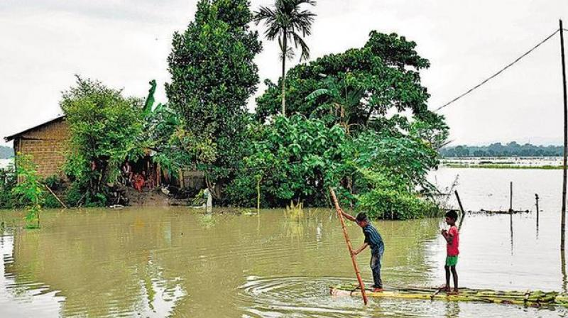 Officials said over 27,000 hectares of farmland are under floodwater and over 7,000 people have been evacuated to 68 relief camps across the state. (Photo: AFP)
