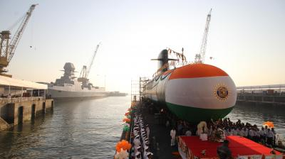 Submarine Karanj is the third of the six Scorpene-class submarines built by MDL under the Project 75 programme. (Photos: Shripad Naik)