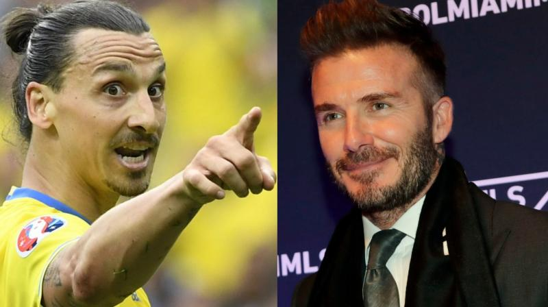 Ibrahimovic, Sweden's all-time top scorer with 62 goals, has been vocal in support of his homeland from his vantage point with his Major League Soccer club Los Angeles Galaxy -- former England captain Beckham's onetime MLS club. (Photo: AFP/AP)