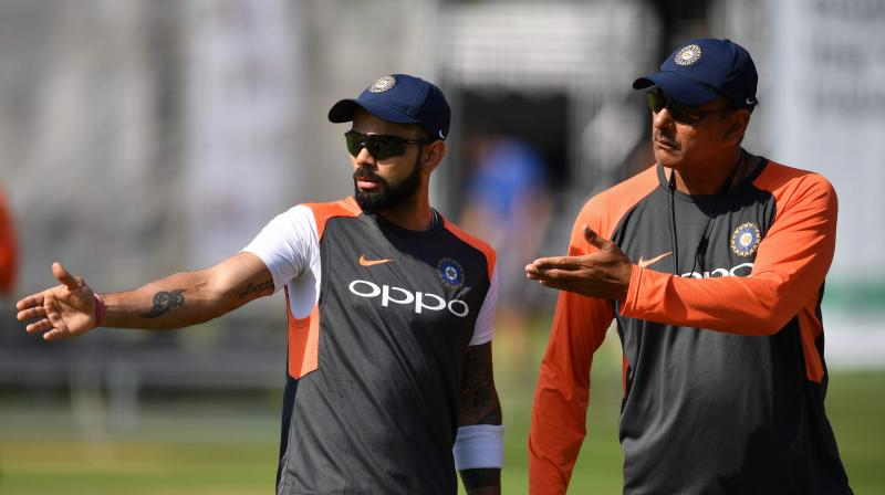 The BCCI further revealed that it made an advance payment to Shastri for his coaching services from mid-July to mid-October, splashing a whopping sum of INR 2.05 crore. (Photo: AFP)