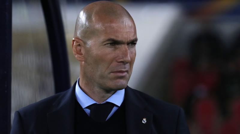 Real Madrid manager Zinedine Zidane said he is not thinking about leaving the club and is only focusing on winning the upcoming game. (Photo: AP)