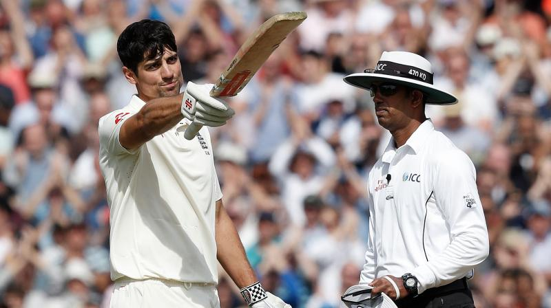 Cook, who is retiring from international cricket after his match, was the first batsman since India's Mohammad Azharuddin in 2000 to score hundreds in both their first and last Test matches. (Photo: AFP)
