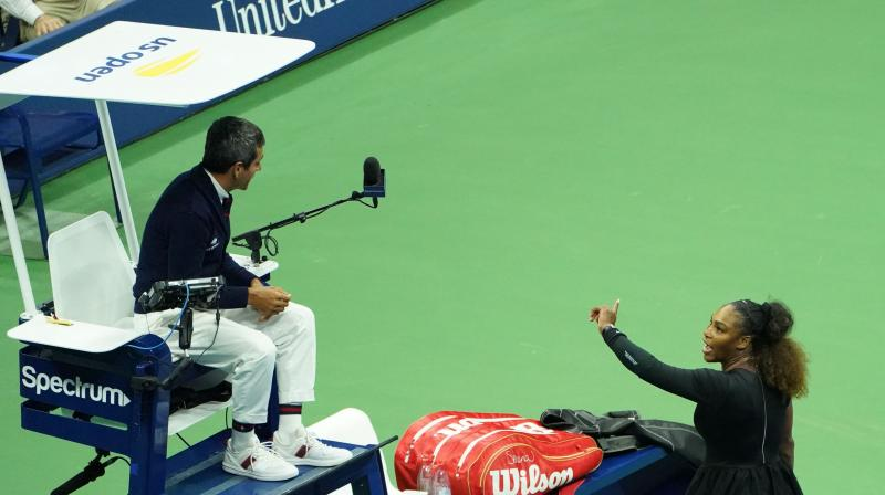 Serena, who was thwarted in her bid for a record-tying 24th Slam singles crown in losing to Japan's Naomi Osaka, said she was punished for saying something where men have said far worse without incurring such a penalty. (Photo: AFP)