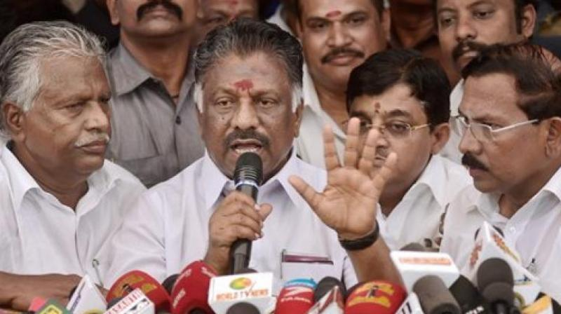 Former Tamil Nadu chief minister O Panneerselvam. (Photo: PTI)