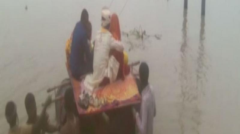 The incident took place in Forbisganj area of Araria district when the wedding party was returning to Jogbani from Garha village. (Photo: ANI)
