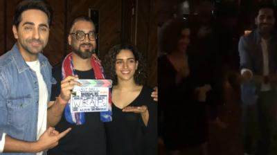 The team of 'Badhaai Ho' wrapped the shoot of the film with a bash in Mumbai on Wednesday night. (Photos: Twitter)