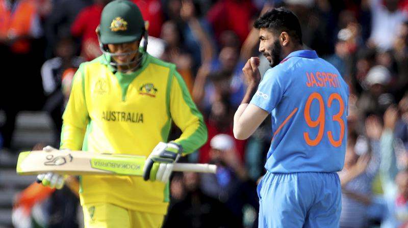 Jasprit Bumrah has emerged as India's leading wicket-taker in the tournament with 17 wickets in eight games as India looked in top form, winning seven games and losing just one against England.(Photo:AP)