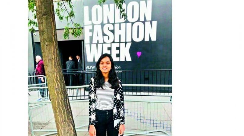 Khushbu Dhoka at the London Fashion Week