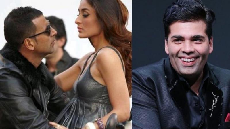 Akshay Kumar, Kareena Kapoor Khan and Karan Johar.