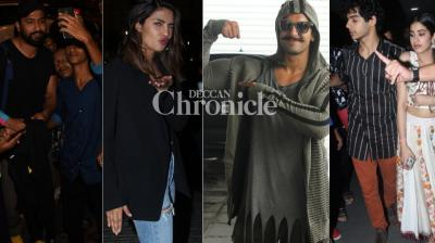Bollywood celebrities were spotted at various locations by the paparazzi in Mumbai on Wednesday. (Photos: Viral Bhayani)