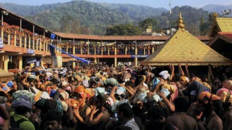 The state is on a boil since Wednesday when two women-- Bindu and Kanakadurga in their forties trekked the Ayyappa temple at Sabarimala and offered prayers early wednesday, taking everyone by surprise. (Photo: File)