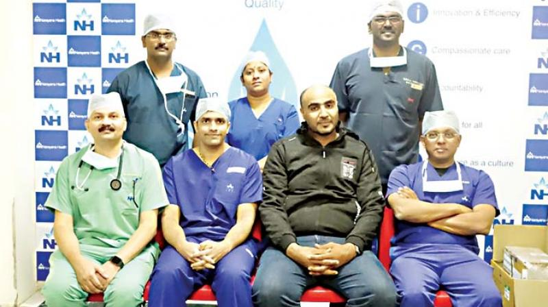 The Omani patient with doctors of Narayana Health City
