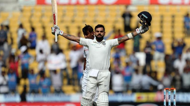 Virat Kohli sailed past Brian Lara's record 5 Test double tons as captain as he brought up his sixth Test double ton in the span of last 17 months. (Photo: BCCI)