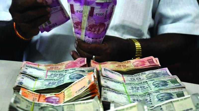 The rupee finally settled at 71.07, down 5 paise over its previous close.