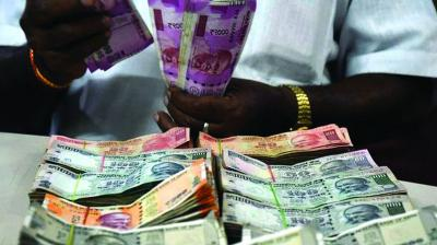 The rupee however could not hold on to the gains and was trading at 70.83 against the dollar at 0953 hrs.