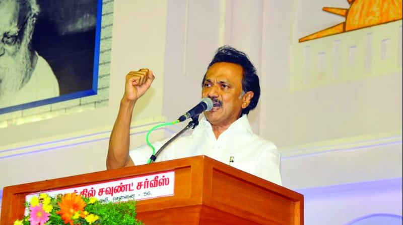 DMK chief M K Stalin reiterated his demand for an exemption for Tamil Nadu students from the annual medical entrance test. (Photo: File)