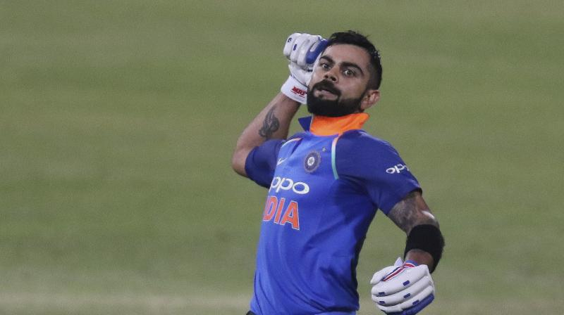 Virat Kohli continued his sublime form in the ongoing tour of South Africa and created yet another world record two days ago, becoming the first batsman ever to score 500 runs in a bilateral ODI series. (Photo: AP)