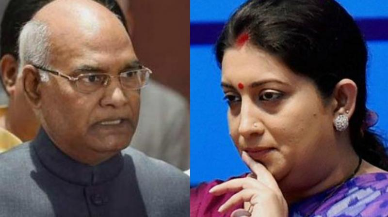 Awards Controversy: President Office Upset on Smriti Irani