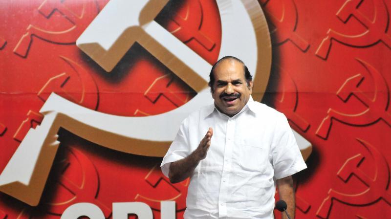CPIM state secretary Kodiyeri Balakrishnan addresses the media after the CPIM  state committee  in Thiruvananthapuram on Monday .(Photo: A.V. MUZAFAR)