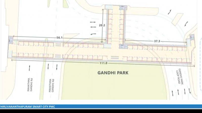 Sketch of proposed pedestrian subway at East Fort