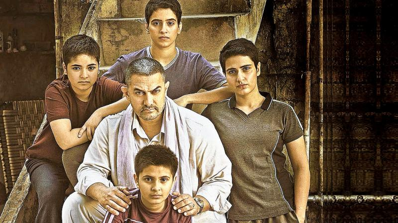 A still from the movie Dangal