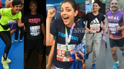 Several Bollywood stars put on their running shoes for the annual Mumbai Marathon held in the city on Sunday. (Photo: Viral Bhayani/ Instagram)