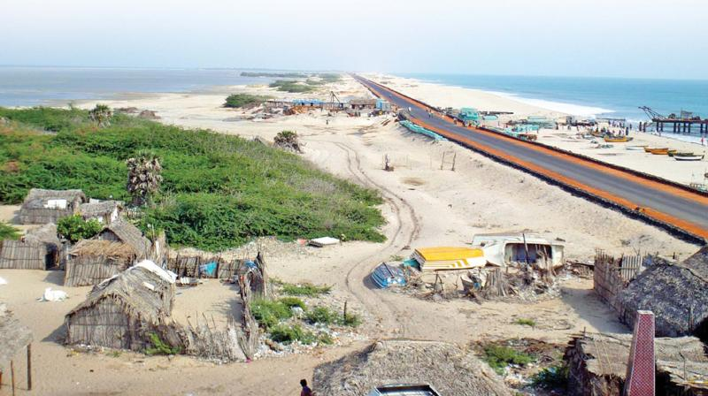 Prime Minister Narendra Modi inaugurates the National Highway linking Dhansuhkodi with Rameswaram on Thursday. The road link has brought joy to the people of Rameswaram and Dhansuhkodi. (Photo: DC)