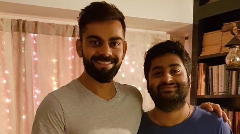 The India skipper heaped praise on the Bollywood singer on Twitter, stating no one else's voice has enthralled him in the same way. (Photo: Twitter)