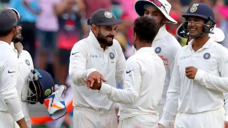 India scripted history winning their first ever series on Australian soil beating the home team 2-1 after the fourth and final Test ended in a tame draw due to inclement weather. (Photo: AFP)