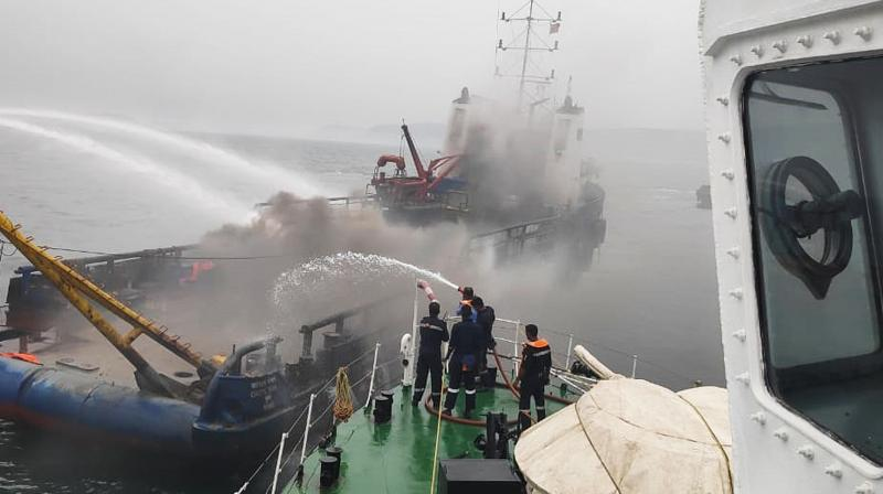 The incident took place at around 11.45 am. The victims said that they heard a loud blast from the fuel tank and found fire spreading on the ship. Some of them jumped into the sea to save themselves.