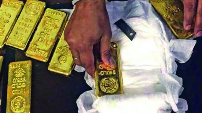 In the 12 months from March last year, 86 cases were booked by Customs officials and 40.195 kg gold seized from air passengers who arrived at the RGI airport in Shamshabad.