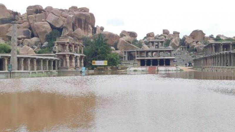 The Ratha Beedi in Hampi that was flooded (Photo: DC)