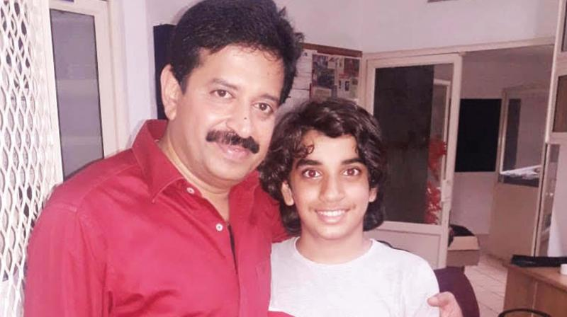 Nehan with magician Gopinath Muthukad