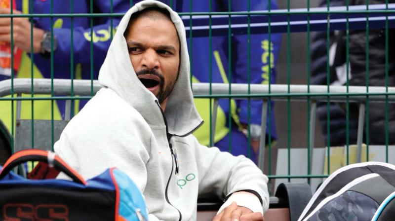 Shikhar DhawanShikhar Dhawan watches teammates batting in the nets during a training session in this file photo. (Photo: DC)