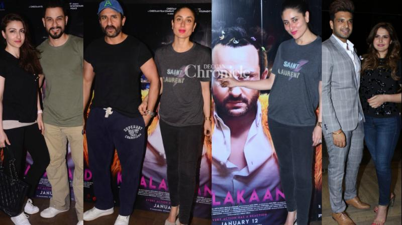 The teams of this Friday's releases 'Kaalakandi' and '1921' held screenings of their films in Mumbai on Tuesday. (Photo: Viral Bhayani)