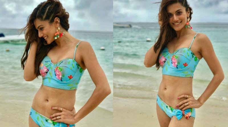 The pictures that Taapsee Pannu posted on Twitter.
