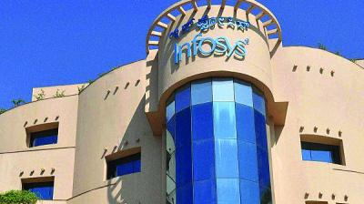 Infosys also raised the lower-end of its FY20 revenue guidance, and the revised forecast now stands at 9-10 per cent growth in constant currency terms, from 8.5-10 per cent.