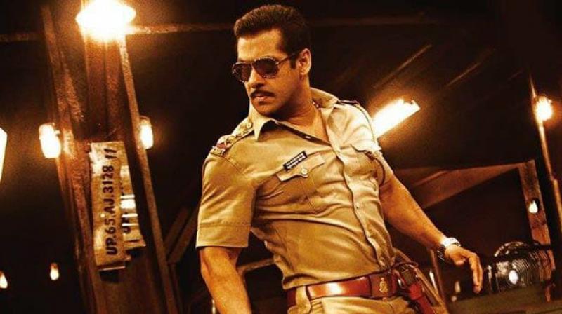 Salman Khan as Chulbul Pandey.