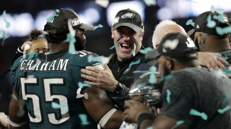 Foles, who nearly retired after an unfulfilling 2015 season with the St. Louis Rams, showed no nerves playing in his first Super Bowl and went toe-to-toe with Patriots counterpart Tom Brady, a five-time Super Bowl champion.(Photo: AP)